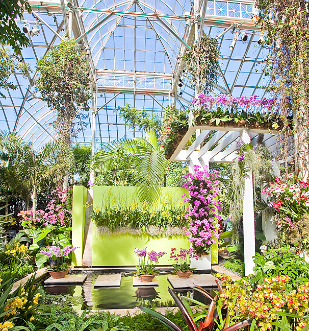 The main display of NYBG's orchid show is inspired by an award-winning garden in Key West, Fla.