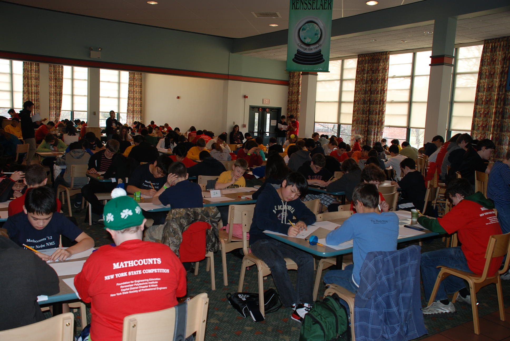 Competitors Solving Math Problems at Mathcounts Competition