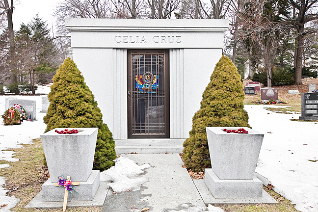 Cuban Queen of salsa Celia Cruz lies near her husband at Woodlawn Cemetery.