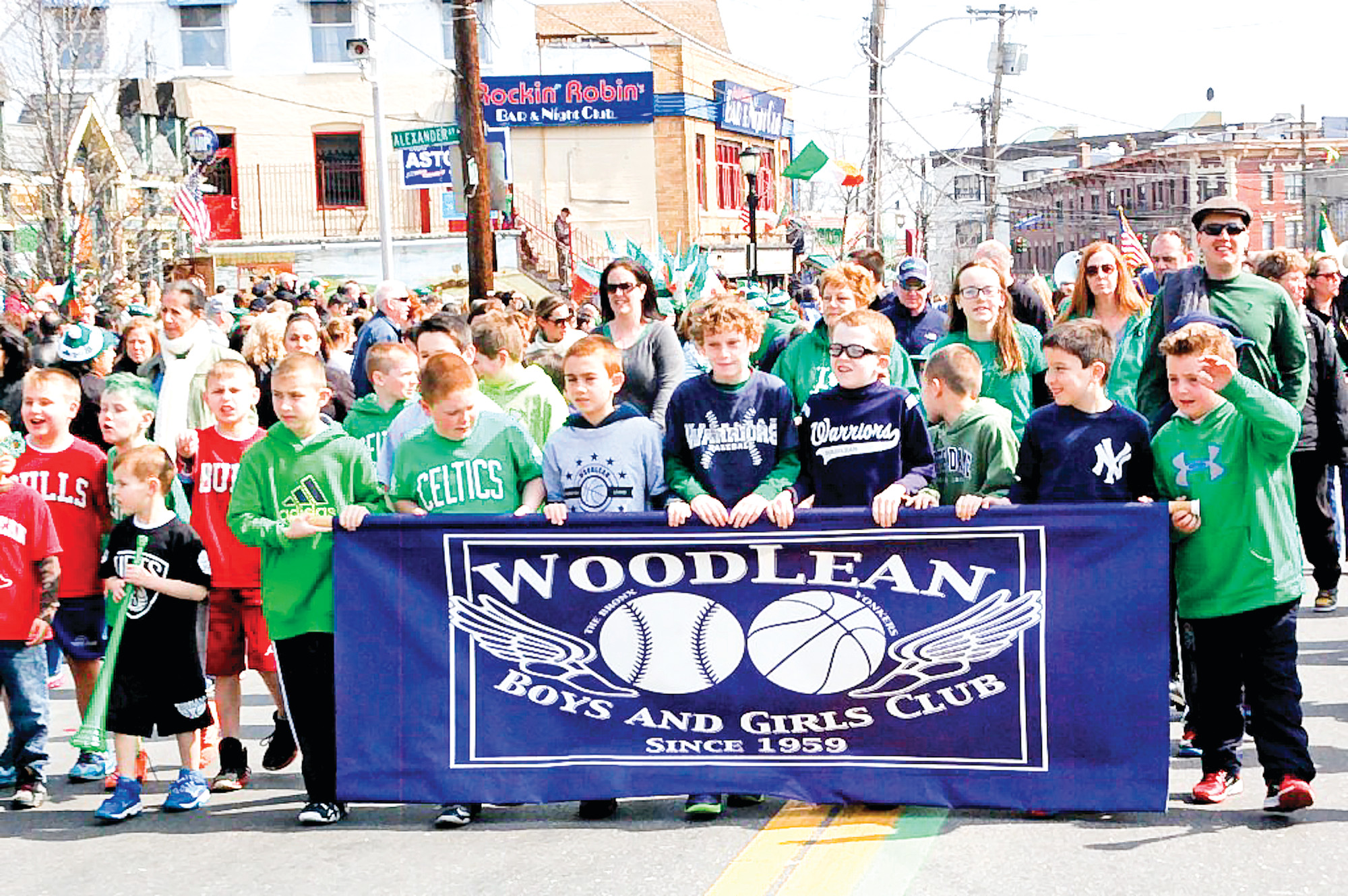 Boisterous kids from the Woodlean Boys and Girls club enjoyed the march.