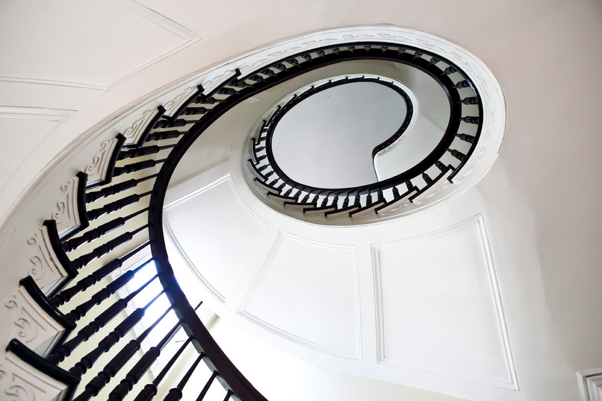 The Bartow-Pell Mansion Museum spiral stair case