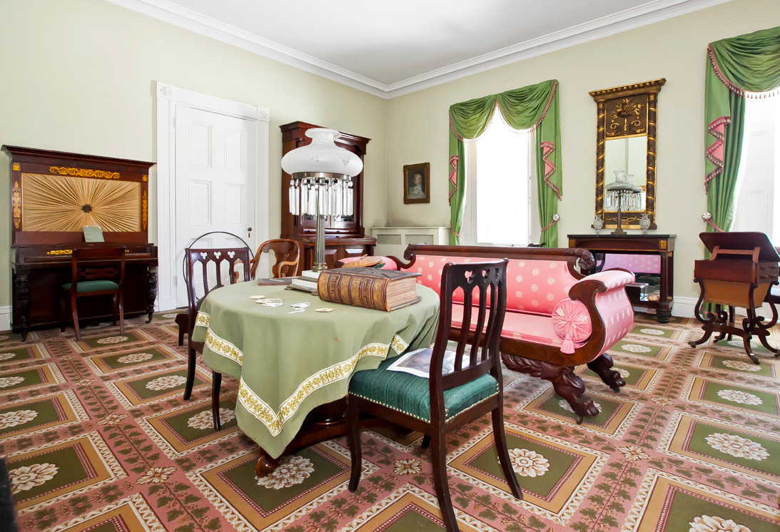 An upstairs parlor at the mansion.