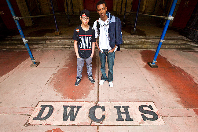 Freshman Hector Castro and T.J. Silver, both 15, have positive reviews for their first year at DeWitt Clinton High School � which many feared would be the institution�s last.