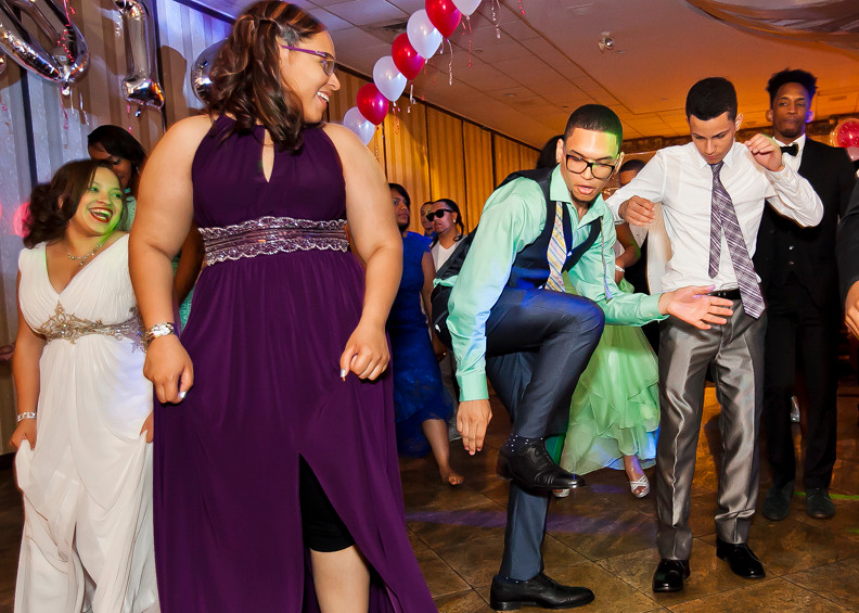 Sol Acosta, Josephine Mateo, Christopher Fias, Jr., Christian Ojeda, Pamomodou Kallow and the rest of the 2014 John F. Kennedy class hit the dance floor at Maestro's Caterers on May 30.