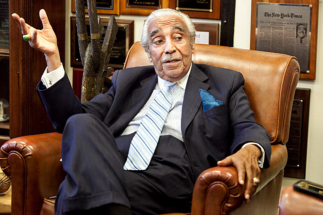 Rep. charles rangel at his Harlem district office on Monday, June 16.