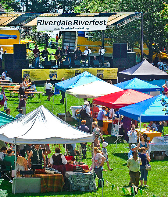 The great lawn at Mount St. Vincent was filled with the tents of exhibitors and vendors.