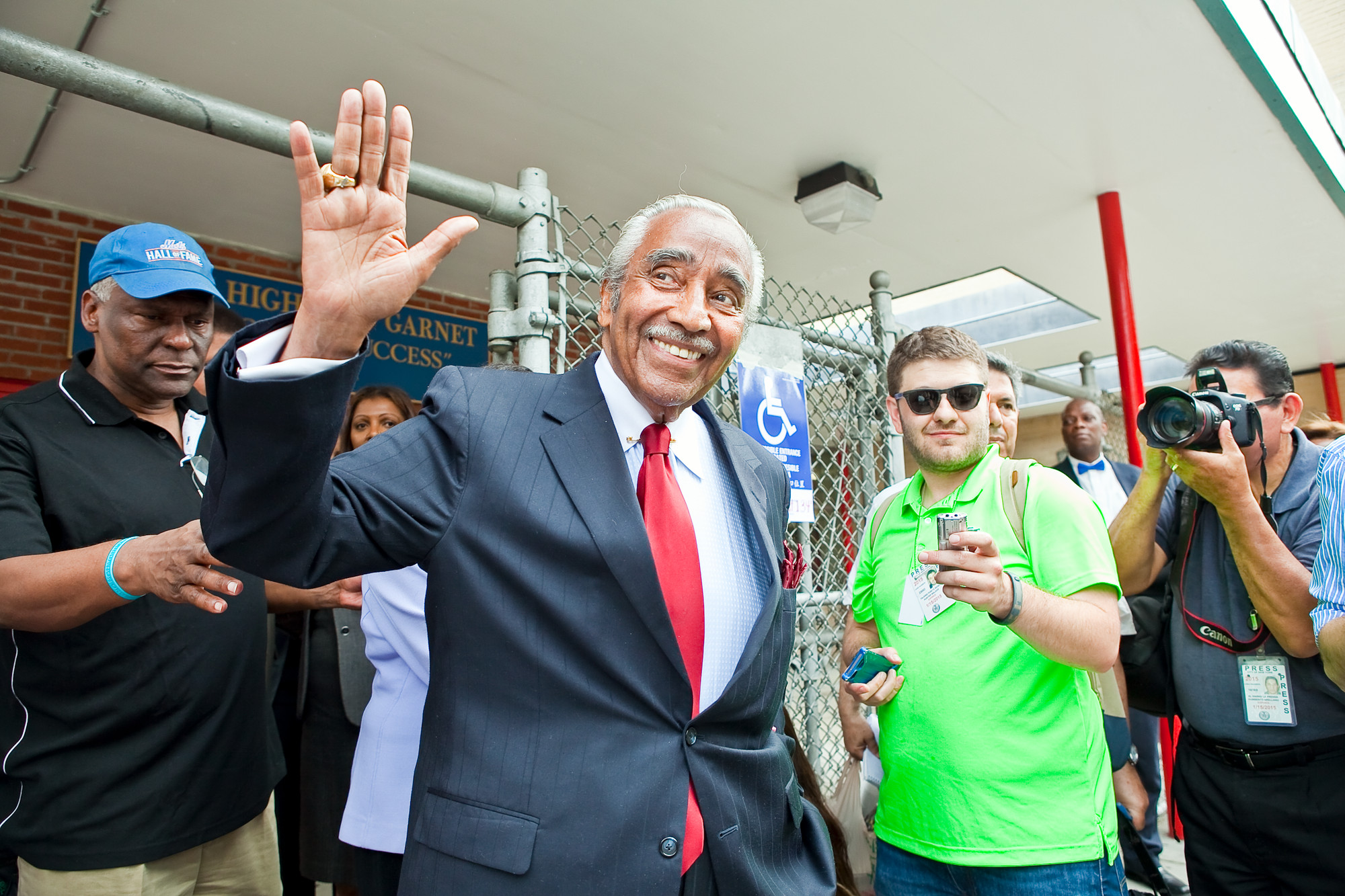 Rep. Charles Rangel after voting at P.S. 175 in Harlem on Tuesday.