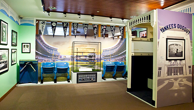 A new exhibit at the Hebrew Home at Riverdale is designed to evoke memories of the Yankees.