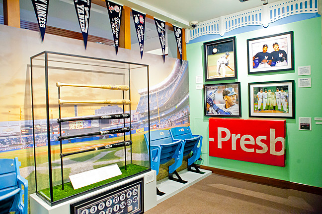The Yankee Dugout exhibition at the Hebrew Home.