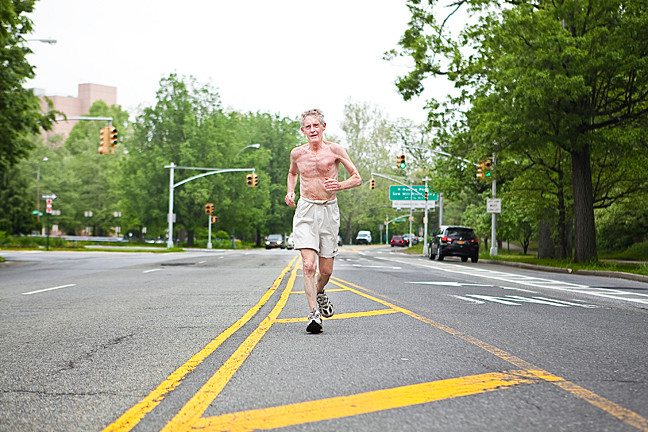 John Brady, an avid runner for over 38 years can often be seen during his eight-mile-long routine in Van Cortlandt Park, down Broadway and up Mosholu Parkway.