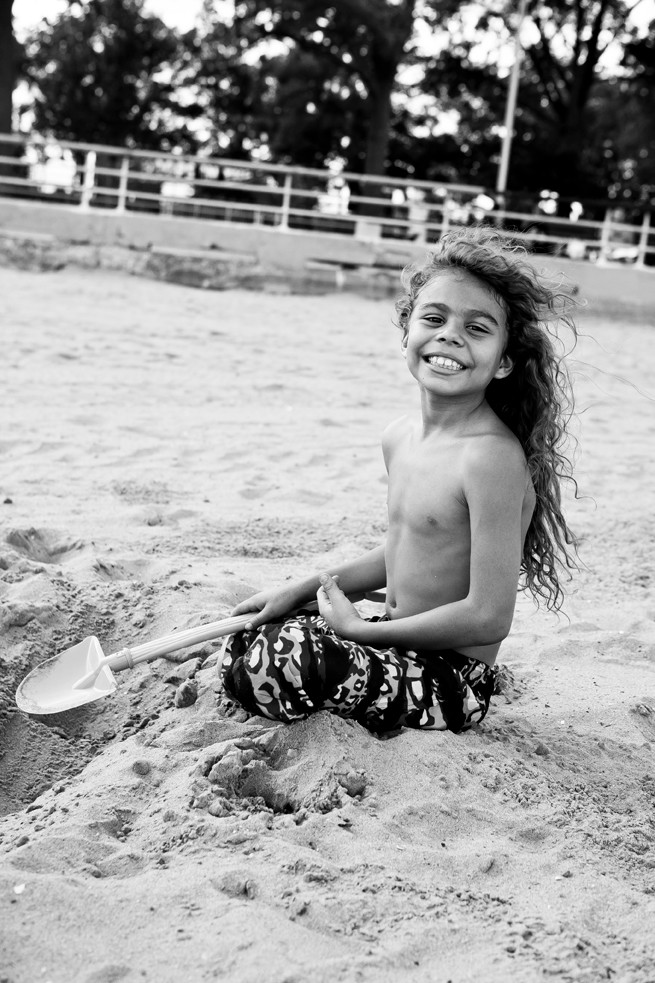 Andrew Santiago, 8, at Orchard Beach on Monday, July 28.