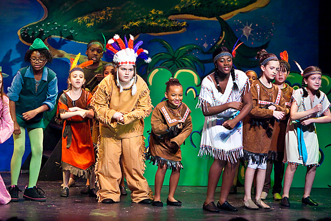 Young actors from the Riverdale Rising Stars take the stage at The Riverdale Y�s theater for a performance of �Peter Pan, Jr.� on Aug. 7.