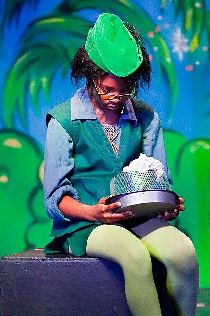 Tiarra Towns, 10, as Peter Pan.