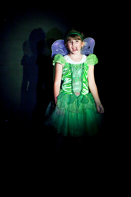 Beth Levin, 8 as Tinkerbell.