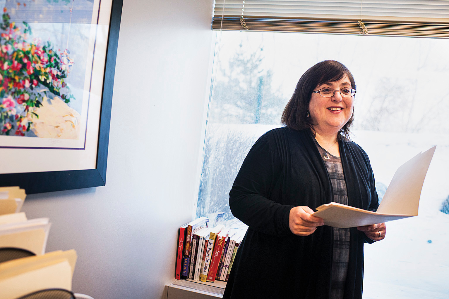 Bat Sheva Marcus, a clinical director at the Medical Center for Female Sexuality in Purchase, NY, at her office on Feb. 16.