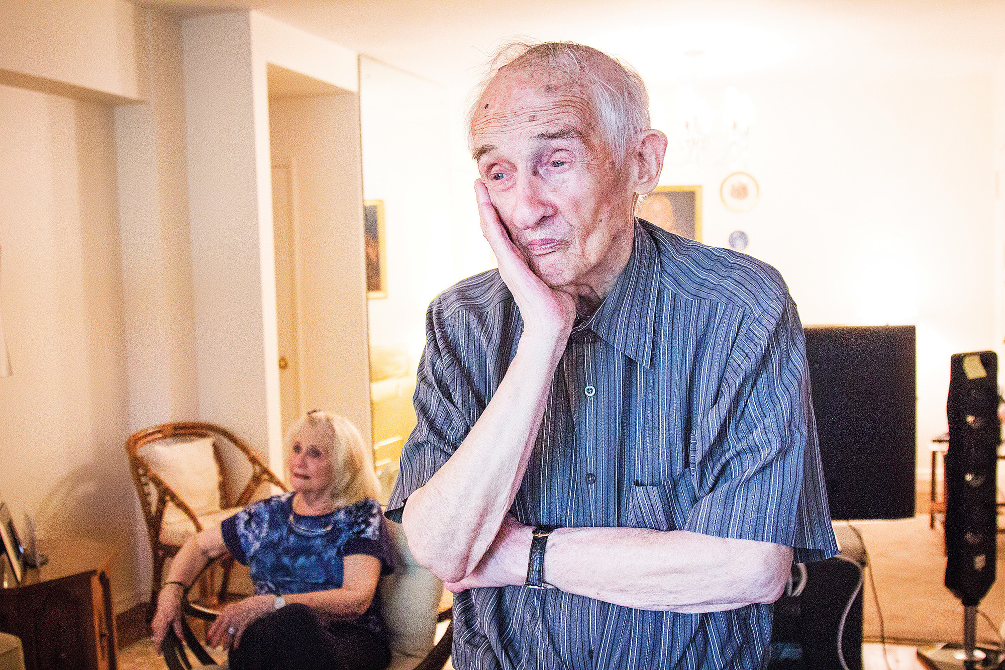 Jerry Oppenheimer, 93, in his home on June 19.