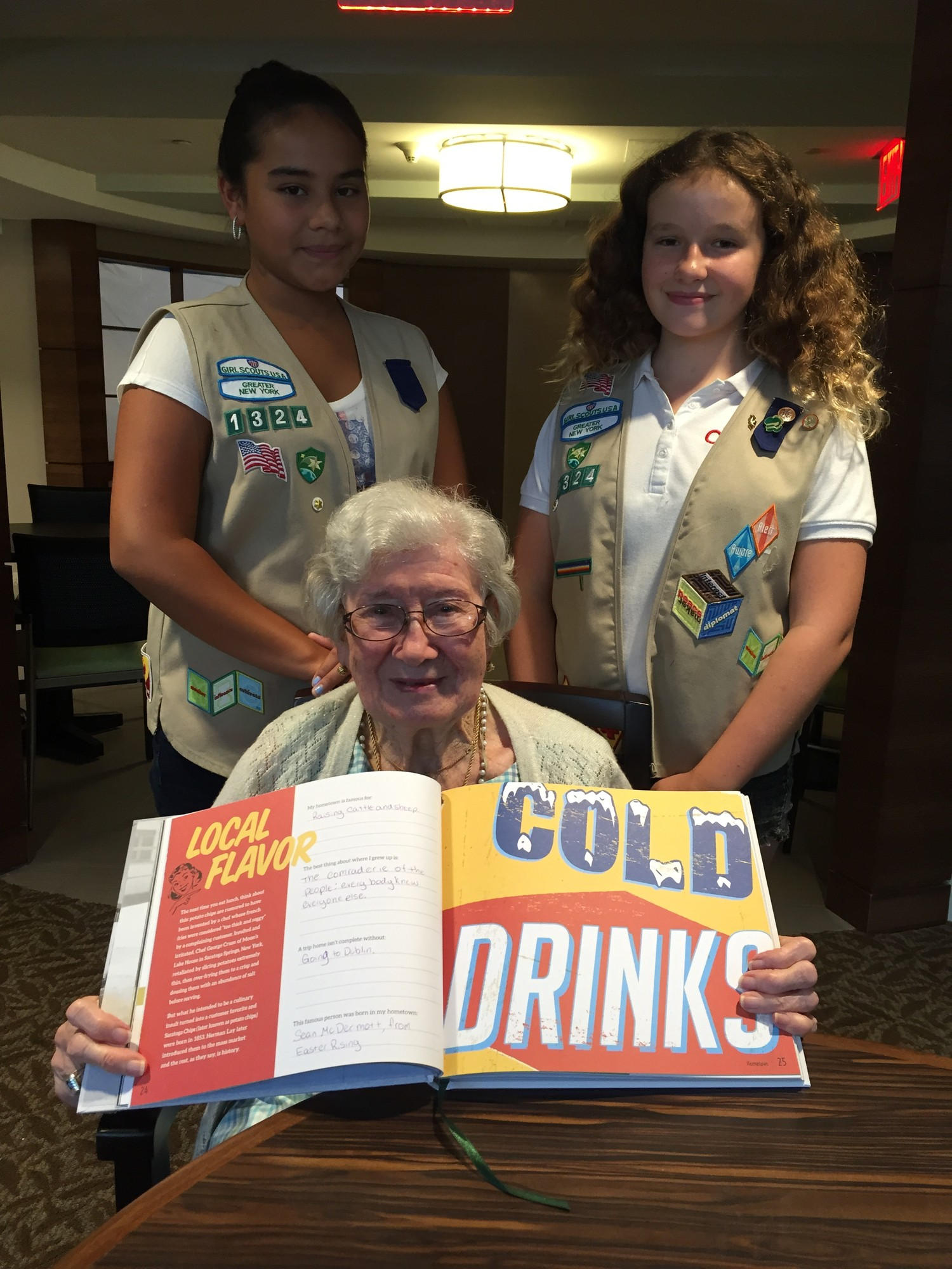 Girl Scouts USA Troupe 1324 Visits Atria Riverdale