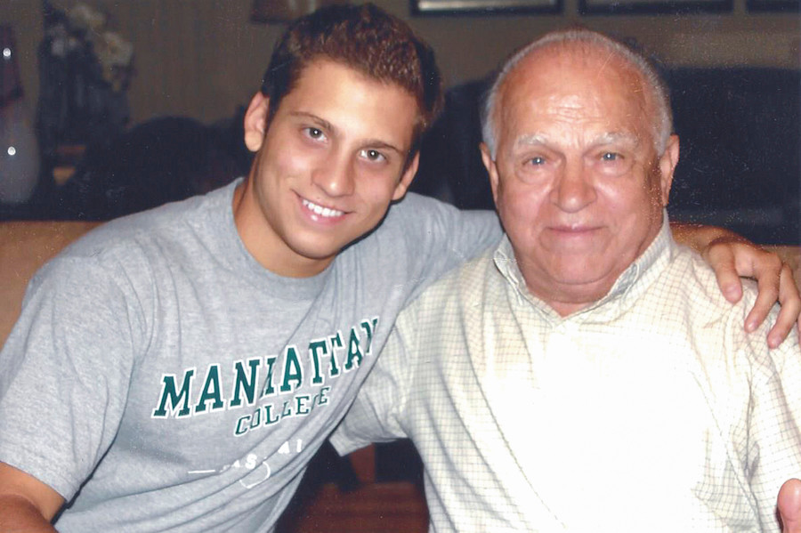 Perry Rizopoulos and his grandfather, Pericles Rizopoulos, who escaped Nazi occupation in Greece during World War II to eventually settle in the Bronx.