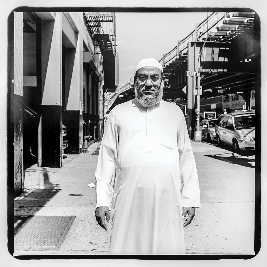 An Imam from the large Muslim community along Jerome Avenue.