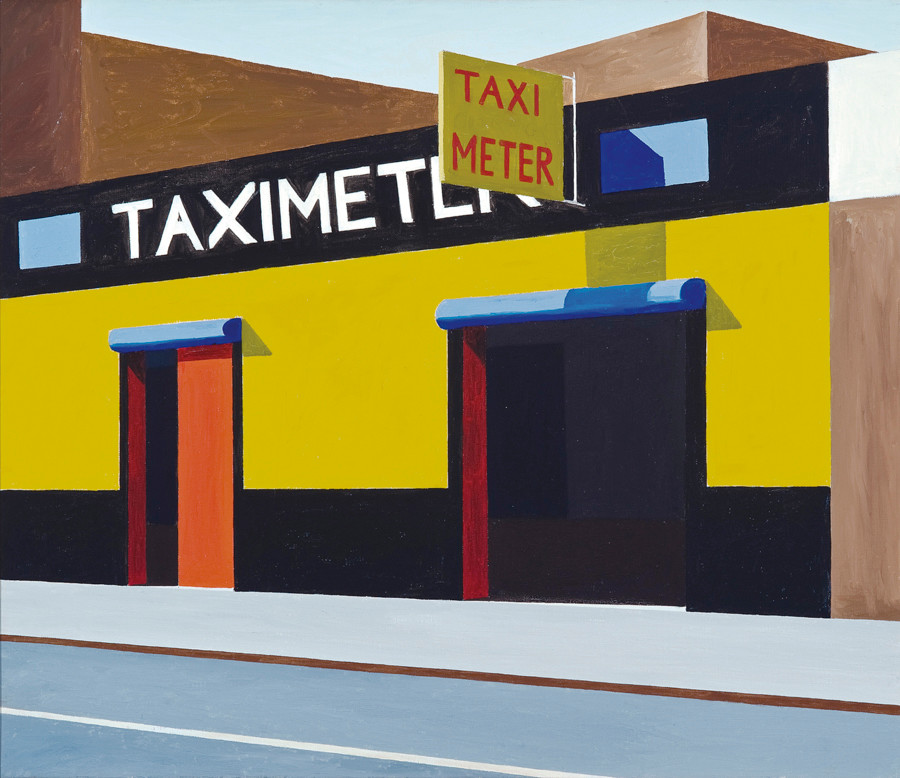 "Photo courtesy of Chris Kendall/Lehman College Art Gallery -- A painting by Emilio Sanchez titled ""Taximeter."" The Bronx Museum of the Arts Permanent Collection