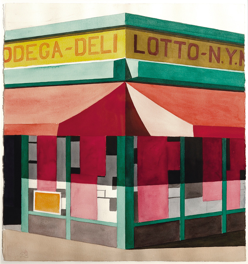 "A painting by Emilio Sanchez titled ""Lotto"" The Bronx Museum of the Arts Permanent Collection
