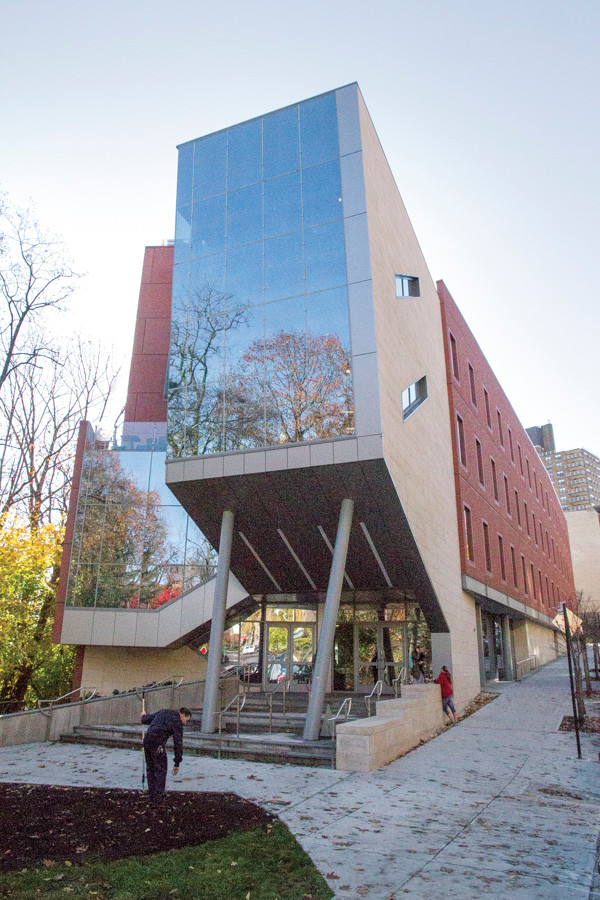 The Raymond W. Kelly student commons building at Manhattan College, which opened in 2014, seen on Nov. 20.