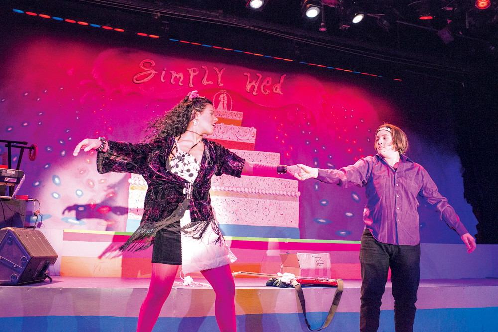 Isabel Rodriguez and Kane Kavanagh-Baer perform in a dress rehearsal of 'The Wedding Singer' at the Riverdale Y on Dec. 3.