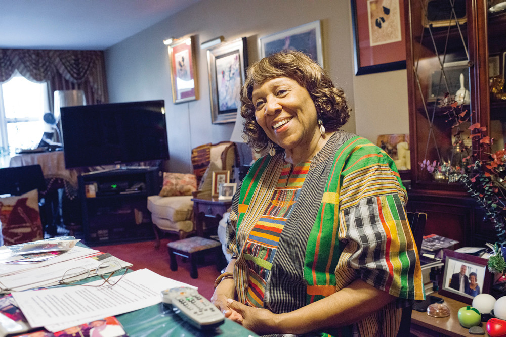 Photo by Adrian Fussell / The Riverdale Press -- Folk singer and Riverdale resident Delores 'Dee' Dixon speaks about her part in the music scene of 1960s and 70s New York during a Dec. 4 interview.