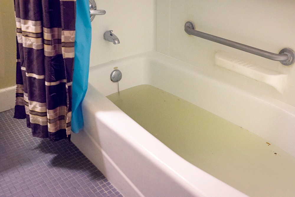 The Backed Up Bathtub Of Charles Cordrey, 54, A Resident Of The Marble Hill