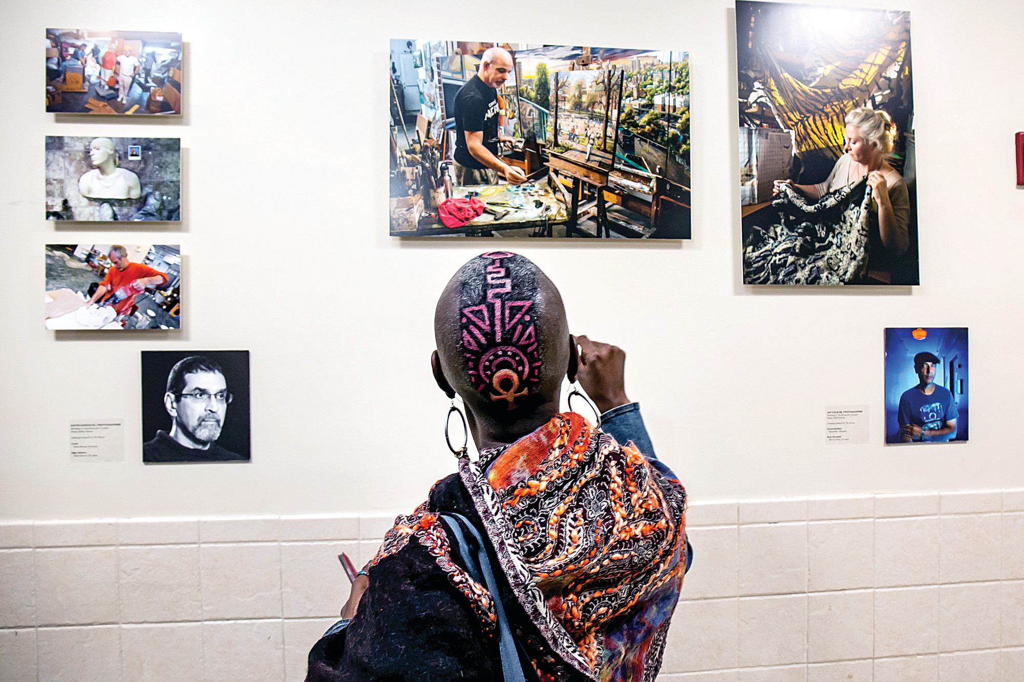 Patricia Arthur at a showing of the Bronx Artist Documentary Project at Montefiore Medical Center's Moses Campus on Oct. 7.