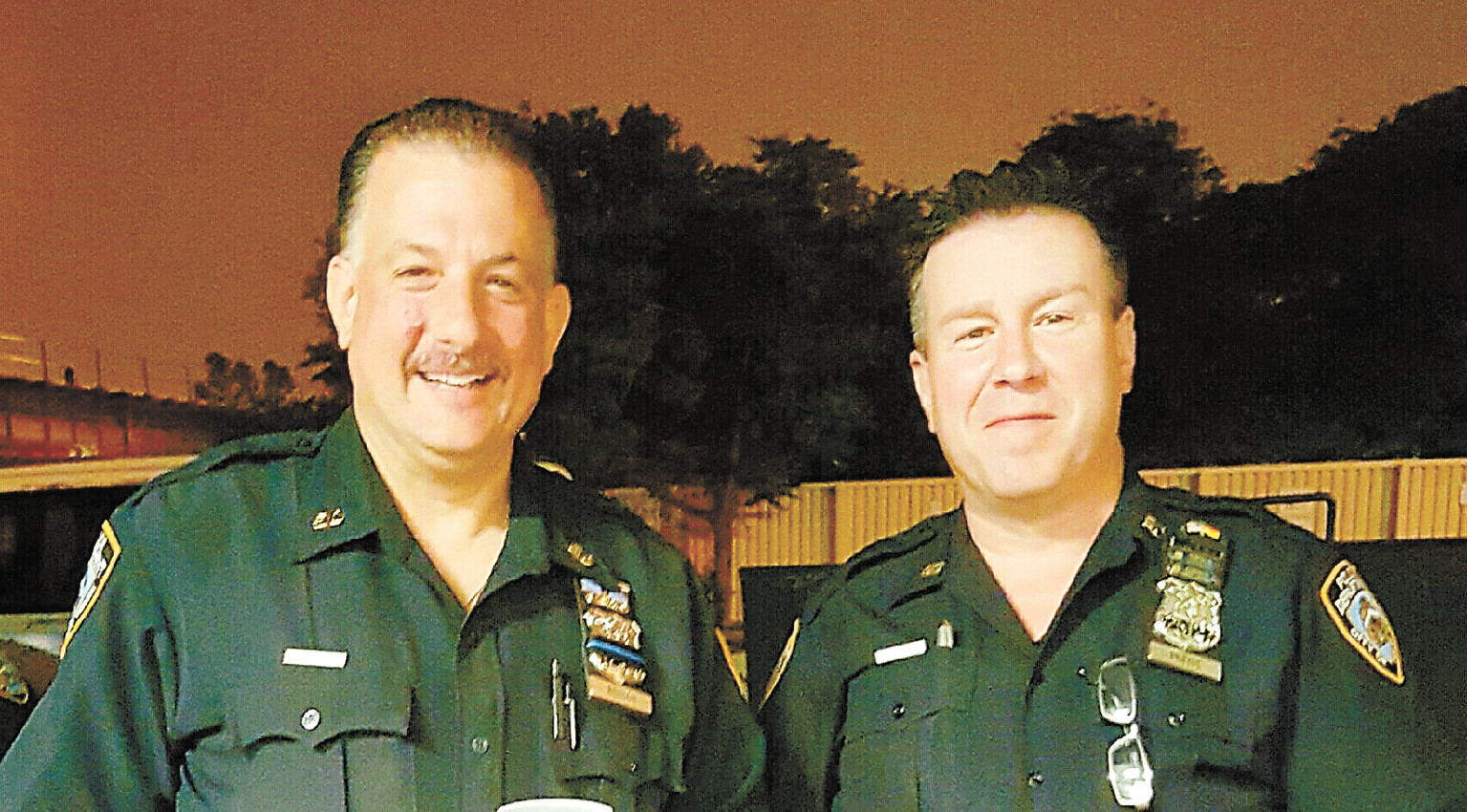 Officers Roland Benson and Kevin Preiss gave a man life-saving CPR last month.