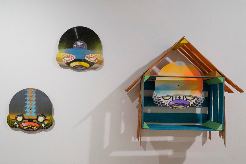 Eric Orr 'Vinyl in the attic,' 'epic' and 'untitled.'