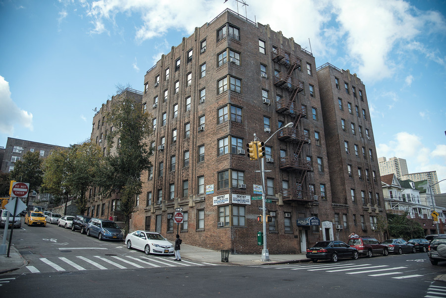 The landlord who owns 99 Marble Hill Avenue, above, is number 29 on Public Advocate Letitia James' worst landlord list. The building is listed as having 627 violations.