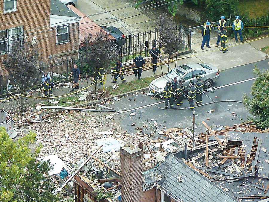 The brick house at W. 234th Street and Tibbett Avenue was shattered by an explosion that killed a firefighting battalion chief in September.