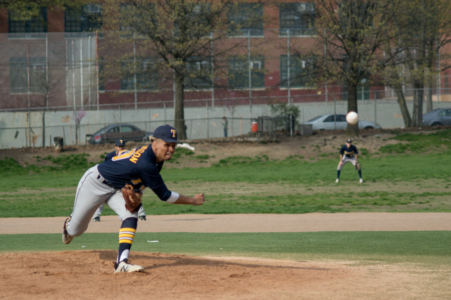 Lardho Richardson pitches against Bronx Law & Government High School. Richardson and the rest of the RKA offense couldn't get untracked last week as the Tigers dropped a 4-2 decision to Roosevelt after seeing their game against Bronx Law & Government suspended at 4-4 after five innings.