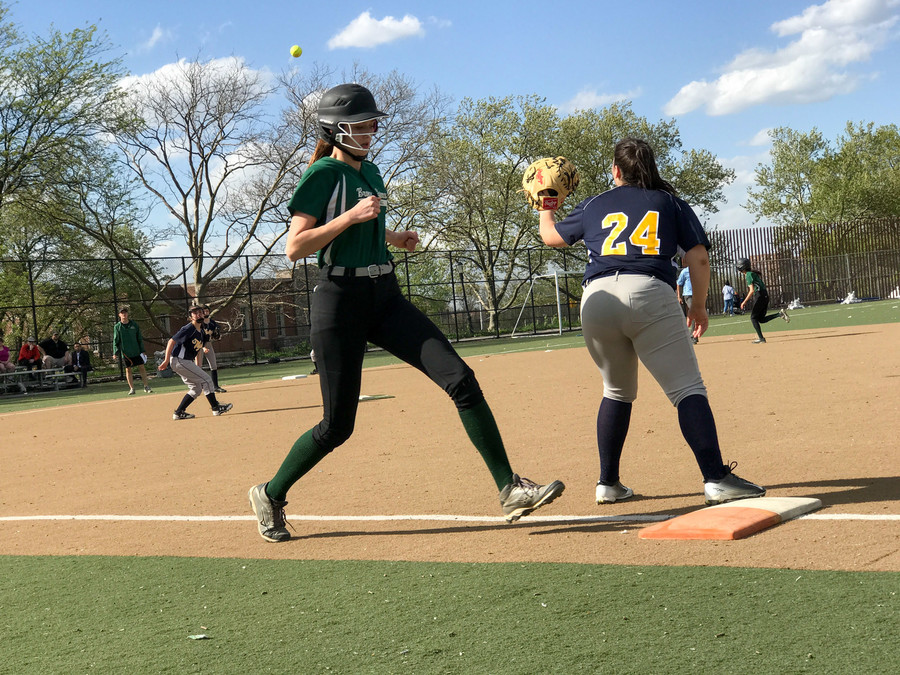 With Kendal Chapman leading the offense and Anna Leidner dominating on the mound, Bronx Science has all but sewn up the Bronx A Division softball crown