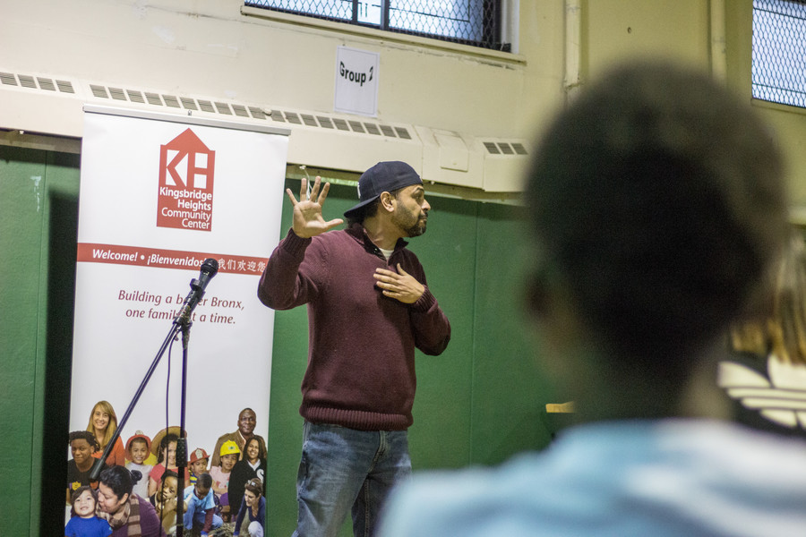 Erik 'Advocate of Wordz' Maldonado has hosted the youth poetry contest at Kingsbridge Heights Community Center for four of its five years.