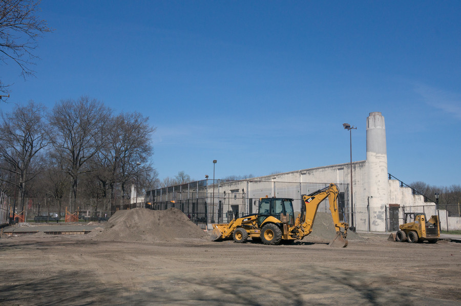 Contractors are building a skate park and a refurbished basketball court in Van Cortlandt Park, which should take about a year. The parks department broke ground on the project April 11, but funds were first allocated in 2013.