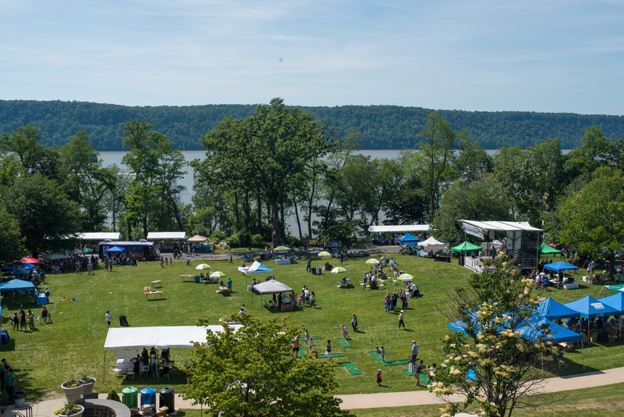 A sunny spring day on the campus of the College of Mount Saint Vincent for the eighth annual Riverdale RiverFest. The afternoon featured music, boat rides, entertainment and more.