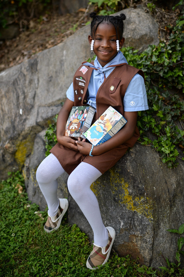 Kamdyn Rouse has set the record for sales of girl scout cookies with 1,053 boxes sold, making her the Bronx's top seller.