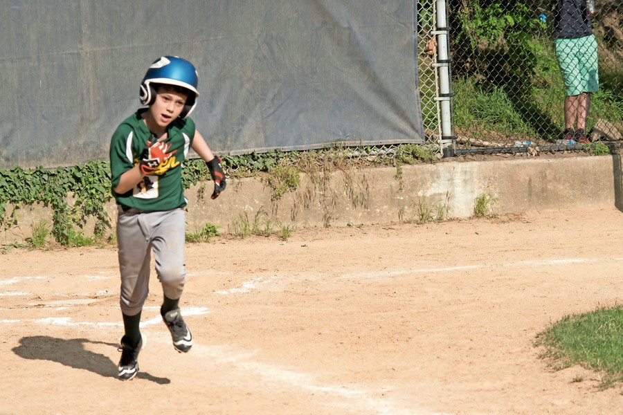 The Baron's BatMen didn't quite live up to their name as they were beaten by the Sluggers 20-1 in Game 2 of the South Riverdale Little League championship series.