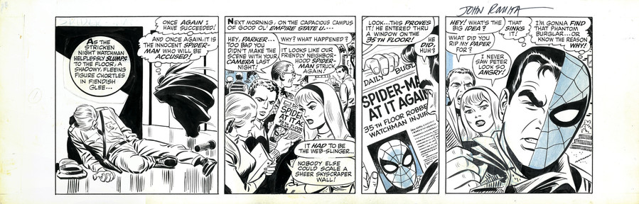 'My favorite story of all time,' says comic artwork collector Mike Burkey about this issue where Spider-Man meets a kid named Tim —  a huge Spider-Man fan — and Spider-Man reveals his true identity to the child. This also is the first story artist Ron Frenz drew for Spider-Man.