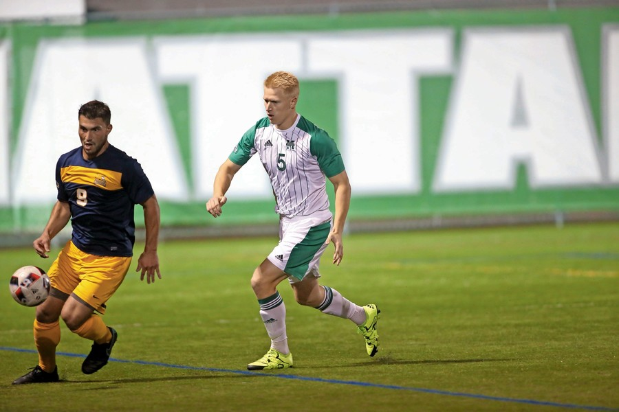 Manhattan senior soccer player Luke Greaves will look to help the Jaspers rebound from last season's two-win campaign.