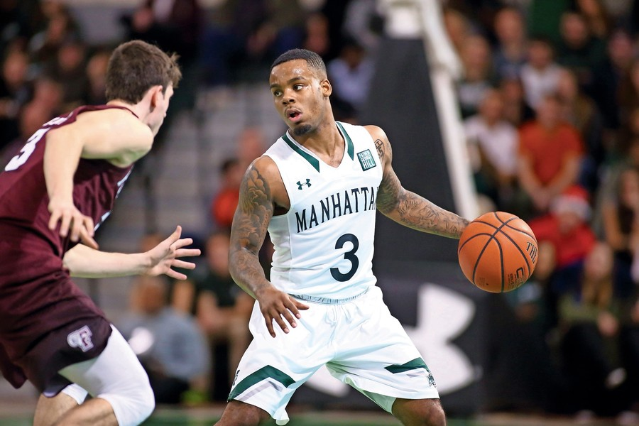 Manhattan's Zavier Turner, No. 3, scored a game-high 15 points in the Jaspers' victory over Fordham last season in the annual Battle of the Bronx. The yearly get together with Fordham is just one of the highlights of Manhattan's upcoming non-conference schedule.