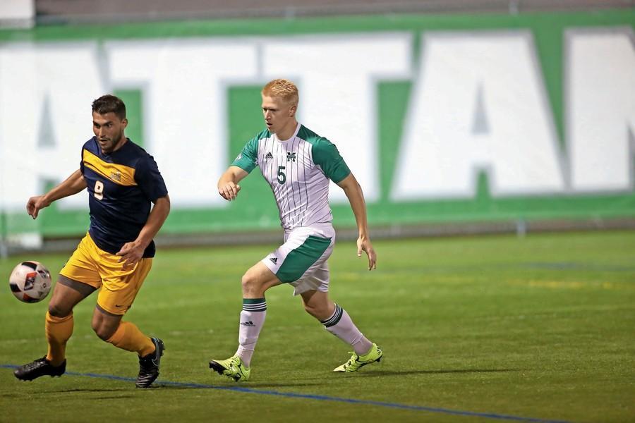 Luke Greaves, No. 5, might need name tags this season as 12 new members have joined the Jaspers' 25-man roster.