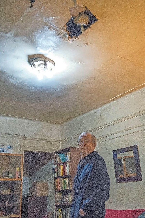 John Cawley has lived in 3971 Gouverneur Ave., for decades. In that time he has dealt with issues ranging from massive leaks to falling ceilings, with the latter once sending him to the hospital.