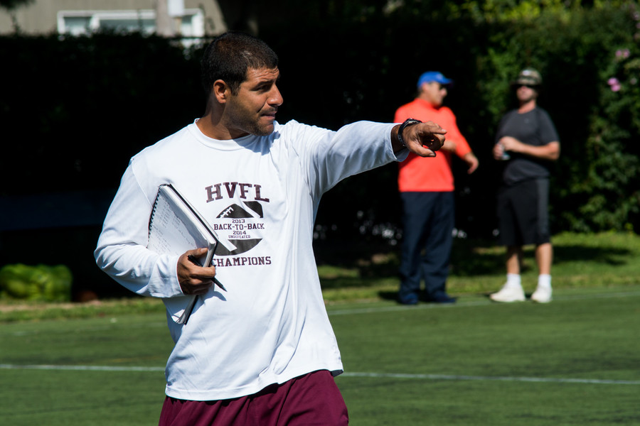 Horace Mann head coach Matt Russo, running a recent practice, is looking for a bounce back season from his Lions after injuries short-circuited their 2016 campaign.