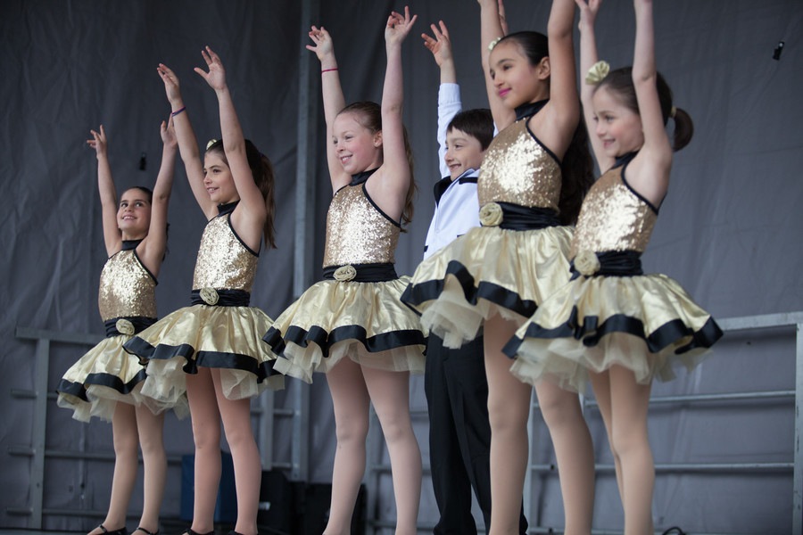 The Riverdale Y Dance program performs a selection of numbers from Broadway shows at last year's South Riverdale Block Festival. This year's event includes a performance from the Riverdale Children's Theater program.