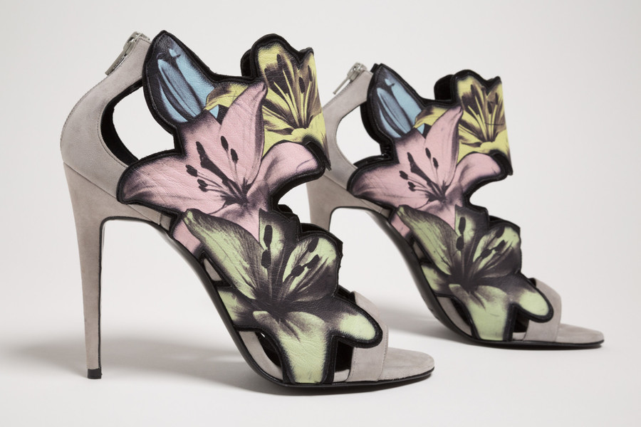 Flowers serve as the inspiration and the design adornment for French shoe designer Pierre Hardy. His work is part of the exhibition 'Force of Nature,' which runs through Nov. 18 at The Museum at FIT in Manhattan.