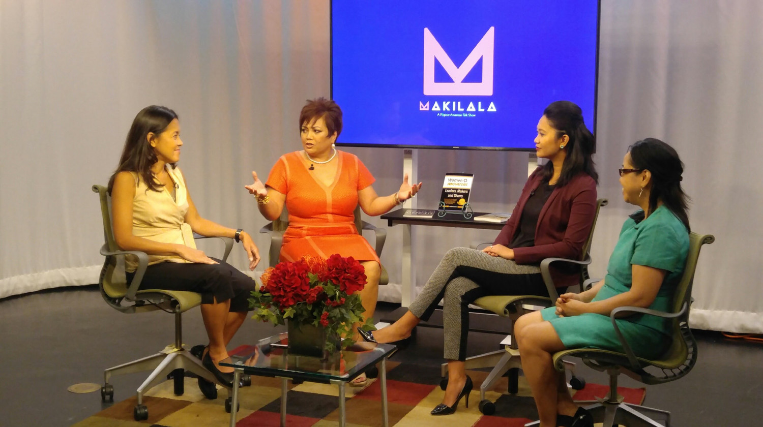'Makilala TV' hosts Cristina D.C. Pastor, Jenjen Furer and Rachelle Ocampo discuss women's leadership roles with a guest. The Filipino-American show about culture and current events is in its fifth season, but just started airing on BronxNet.